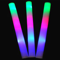 1 Pcs LED Foam Light-Up Sticks Rave Cheer Wand Glow Baton Flash Tube HOT
