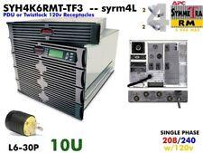 syrm4l~ APC Symmetra PM 4000va UPS 208/240+120v SYH4K6RMT-TF3 #NewBatts