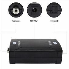 Coaxial analog to digital optical fiber audio converter Coaxial Enter Fiber out