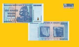 Zimbabwe 100 trillion dollars 2008. UNC - Reproductions