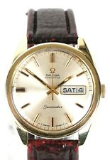 OMEGA -SEAMASTER- GENTS MENS GOLD PLATED 24 JEWEL AUTOMATIC DATE WATCH 166.032