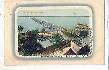 K 282, Eisenbahnbrücke Huang Ho- Railwy Bridge, 1914 gelaufen