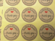 Thank you cute party favor love stickers supplies set labels gift wrap packaging
