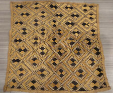 KUBA CLOTH WOVEN RAFFIA CONGO AFRICA TRIBAL ZAIRE TEXTILE AFRICAN GEOMETRIC