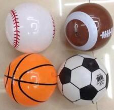6 assorted PVC PLAY 8 INCH SPORTS BALLS toy novelty kick ball soccer football