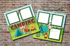 Camping Summer Outdoors 2 PRINTED Premade Scrapbook Pages BLJgraves 26