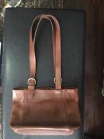 Vintage Coach Brown Leather Shoulder Bag