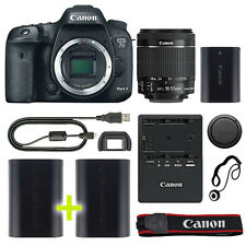 Canon 7D Mark II Digital SLR Camera with 18-55mm IS STM Lens + Backup Power Kit