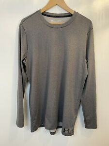 Mens Under Armour Long Sleeve Sports Top, Large, Coldgear, Fitted