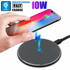 QI Fast Wireless Charger Charging Pad Dock forAndroid Samsung Cell Phones