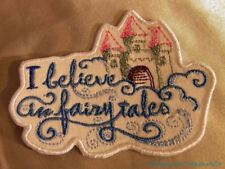 Embroidered I Believe In Fairytales Castle In Clouds Message Patch Iron On USA