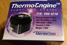 ThermoSonic ThermoEngine Super CPU Cooler P/N V60-4210 Fan Heatsink Clip NIB