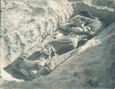More details for 1950s british army egypt bill lowe taking an hour off bir ofeiu camp 4.5*3.5