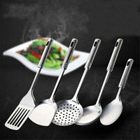 5 Piece Stainless Steel Utensil Set Kitchen Cooking Spoon Tools Skimmer Ladle