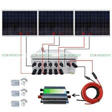 750W 24V Off Grid Solar System Kits with 6 String Combine Box for Home Roof RV