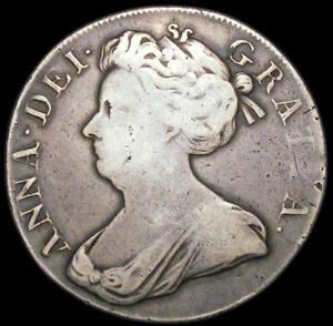 1707 Queen Anne Silver Crown Spink 3601 ESC 104 Bull 1344