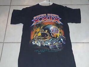 Super Bowl XXIX 1995 Adult Size Small T-Shirt  Miami Florida Vintage Joe Robbie