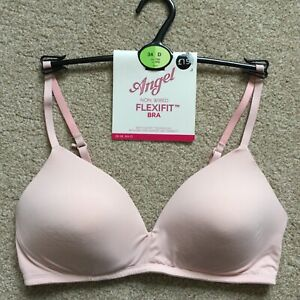 RRP £15 M&S Size 34D Angel Non Wired Flexifit Padded First Bra Teenager Pink
