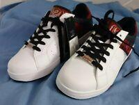 Lotto Men's Skate Shoes SZ 8 White Black Red AV0782 NWT