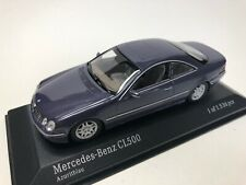 MINICHAMPS 1/43 - MERCEDES BENZ CL 500  - BLEU METAL - 430 038025