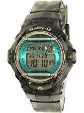 Casio Women's Baby-G BG169R-8B Clear Black Silicone Quartz Sport Watch
