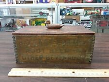 vintage small yeast foam wood box with duck on top