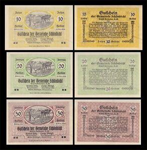1920 AUSTRIA (SCHONBICHL) 3 'NOTGELD' BANKNOTE SET (LOT 2)