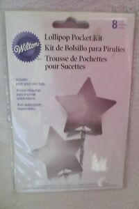 Silver Star Lollipop Kit 8ct Birthday Party Favor New