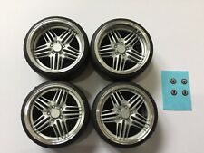 """1/18 scale Modified Tuning REAL ALUMINIUM 19""""ALPINA DYNAMIC WHEELS in SILVER"""