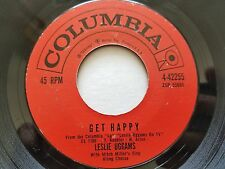 """LESLIE UGGAMS - Get Happy / Birth Of The Blues 7"""" SOUL Columbia"""