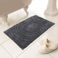 Allure Diamond Geometric Bath Mat Grey 100/% Cotton 55cm W x 85cm L