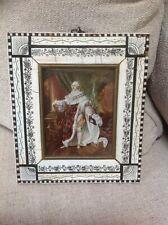 Antique King Louis XVI Miniature Portrait Painting Signed