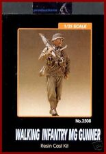 Legend Productions WWII Walking German MG Gunner 1/35 Model Kit