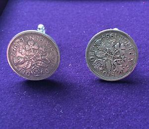 Coin Six Pence Cuff links Genuine Coins handmade