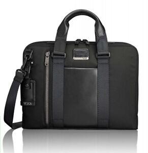 "TUMI Alpha Bravo Aviano Slim Brief Graphite Briefcase 15"" Laptop Bag"