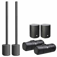 2 x LD Systems Maui 5 Ultra Portable Column PA System with Mixer + Carry Cases
