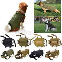 Taktische Militärpolizei Hundeweste Nylon Service Hunde Hundegeschirr XL