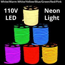 110V LED Flex Neon Rope Light Valentine Party Bar Garden DIY Sign Decor Outdoor
