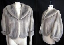 Sapphire MINK Fur Jacket Stole , Blue Iris Cape , Silver Wedding Bolero Coat
