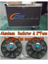 3 ROW for HOLDEN TORANA LJ LC LH LX V8 WITH CHEV ENGINE ALUMINUM RADIATOR & FANS