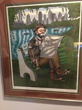 GEORGE CRIONAS HAND SIGNED ARTIST  *CENTRAL PARK TYCOON* #26 OF 300 FRAMED