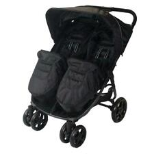 Red Kite Push Me Twini - Carbon Black Carbon Black Pushchairs Double Seat Stroller