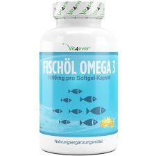 Omega 3 Fischöl 420 Softgel Kapseln 1000mg Lachsöl 18% EPA & 12% DHA Vit4ever