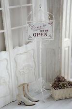 Ladenschild Schild Open Closed Türschild Öffnungszeiten Shabby Chic Landhaus