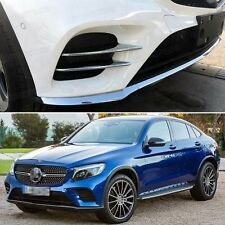 Chrome Front Fog Lamps Light Frame Cover Trim for Mercedes Benz GLC Coupe 2017