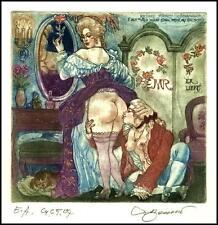 David Bekker 2004 Exlibris C4 Erotic Erotik Nude Sex Nudo Woman Cat Katze 829