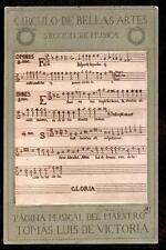 1903 Circulo de Bellas Artes Seccion de Musica museum Spain postcard