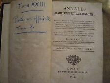 ANNALES MARITIMES ET COLONIALES,Ord.ROYALES.BAJOT.ANNEE 1824.2° partieTOME XXIII