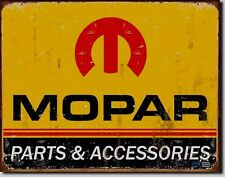Mopar Parts & Accessories Metal Sign Tin New Vintage Style USA #1315