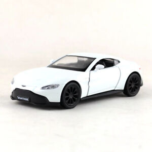 1:36 Aston Martin Vantage Model Car Diecast Toy Collection Pull Back White Kids